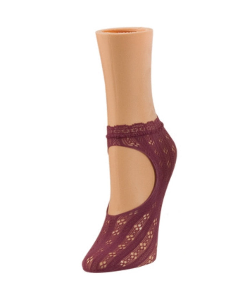Floral Net Loafer Socks - MeMoi - 7