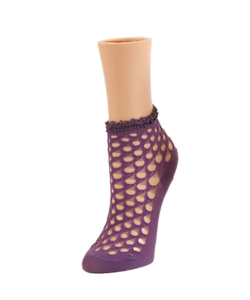 MeMoi Stranded Dots Women's Ankle Socks
