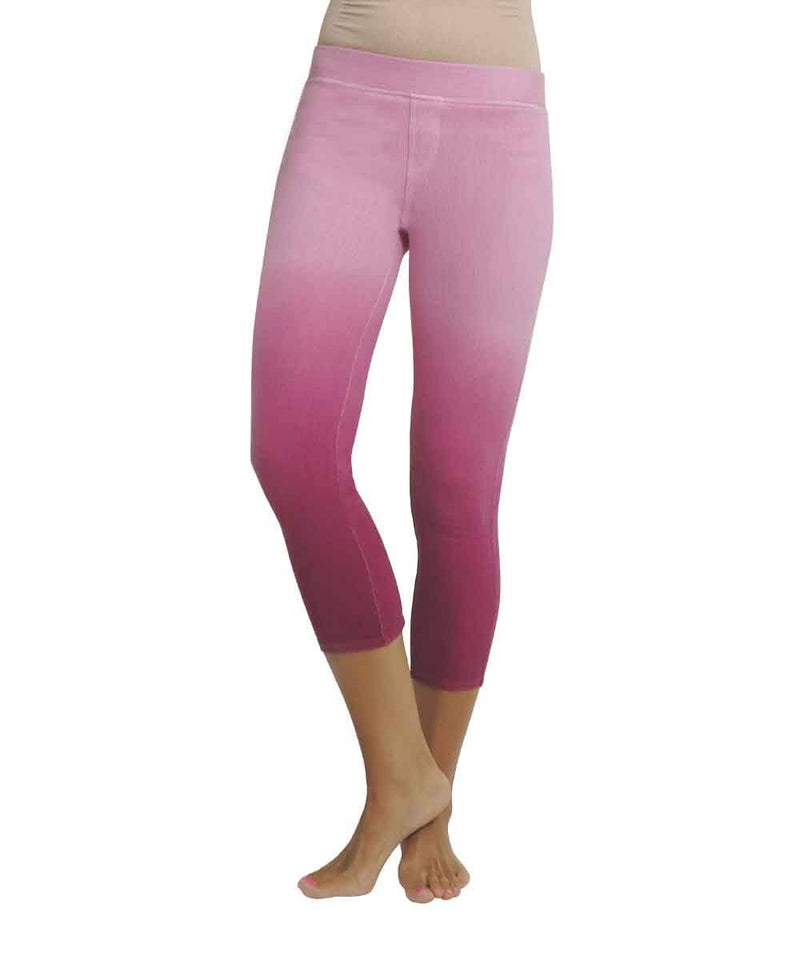 Raspberry Chino Capri | MeMoi Womens Leggings | Raspberry Radiance MS3-052