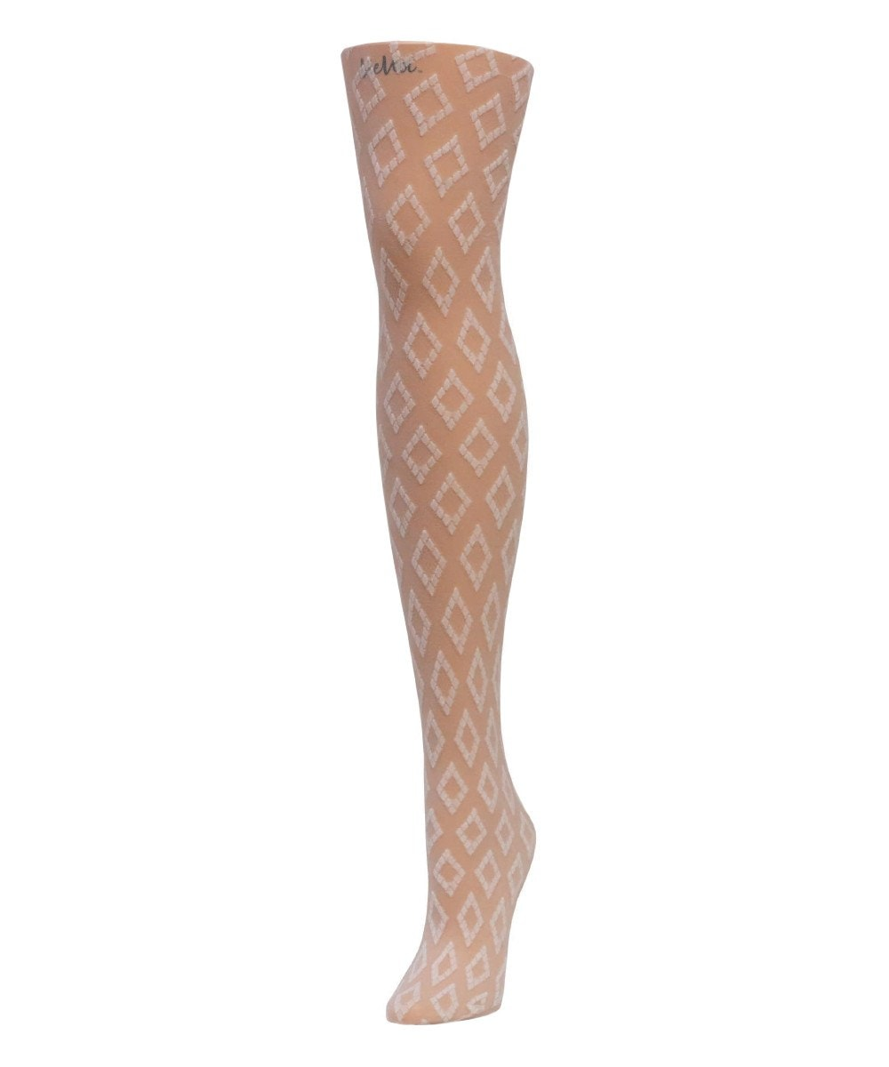 Vertical Diamonds Sheer Tights - MeMoi - 2