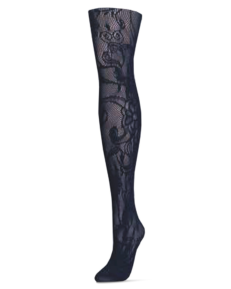 MeMoi Botanic Scene Net Tights