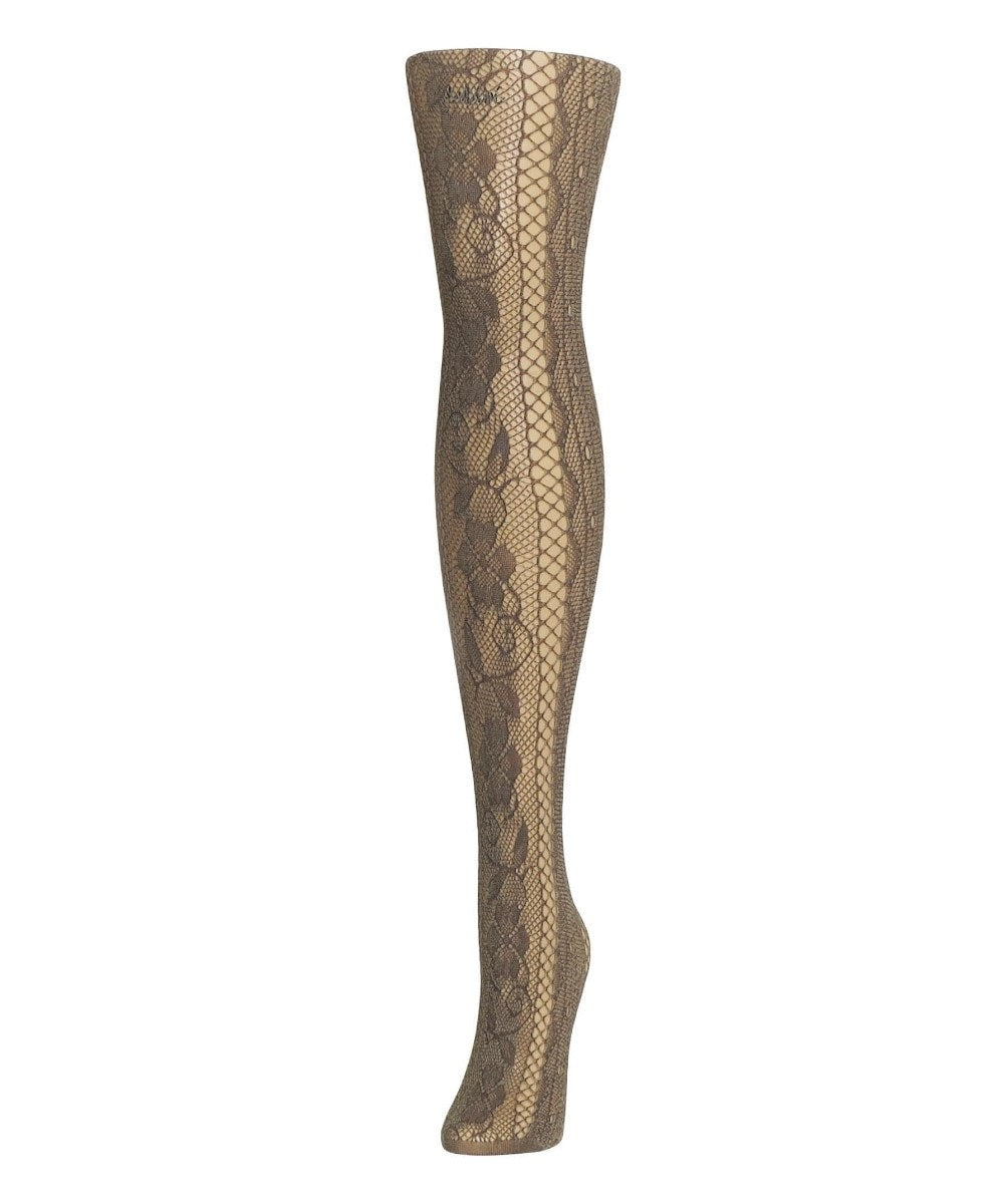 Linear Floral Net Tights - MeMoi - 4