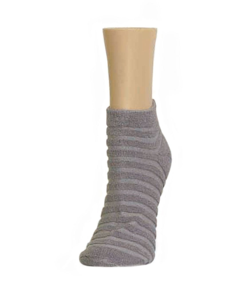 Terry Stripes Soft-Fit Cotton-Rich Low Cut Socks - MeMoi - 1