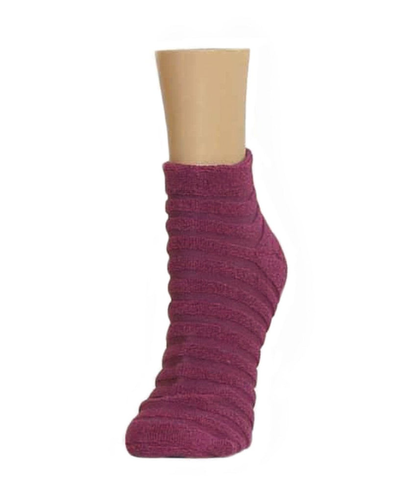 Terry Stripes Soft-Fit Cotton-Rich Low Cut Socks - MeMoi - 3