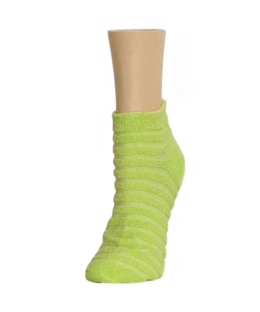 Terry Stripes Soft-Fit Cotton-Rich Low Cut Socks - MeMoi - 4