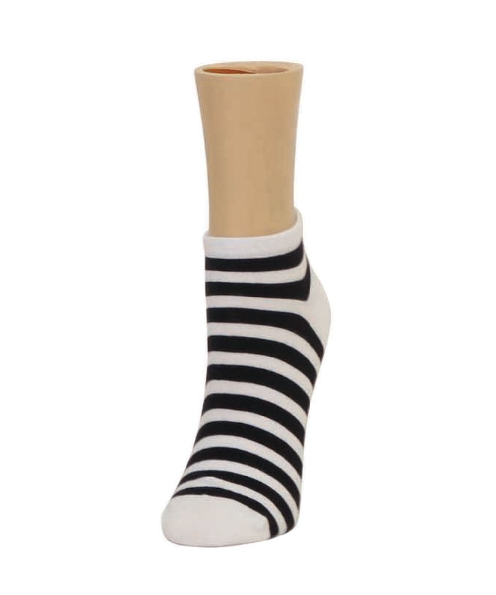 Classic Stripe Soft-Fit Cotton-Rich Low Cut Happy Sock - MeMoi - 2