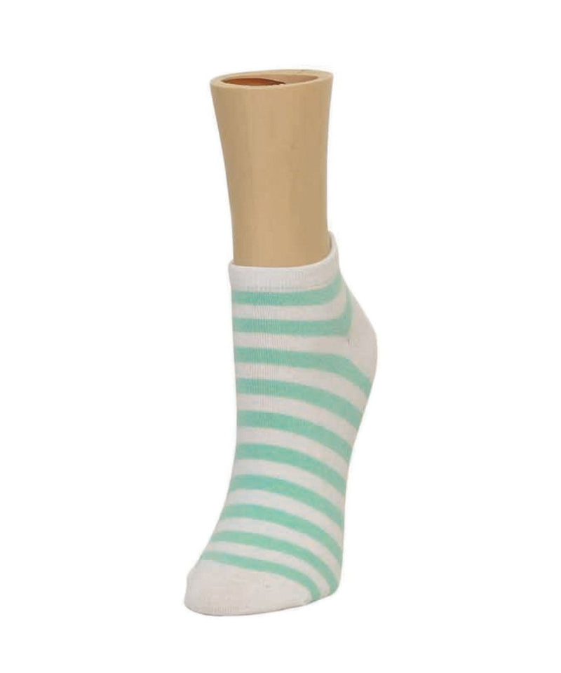 Classic Stripe Soft-Fit Cotton-Rich Low Cut Happy Sock - MeMoi - 3
