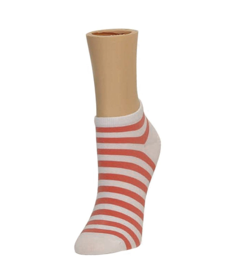 Classic Stripe Soft-Fit Cotton-Rich Low Cut Happy Sock - MeMoi - 4