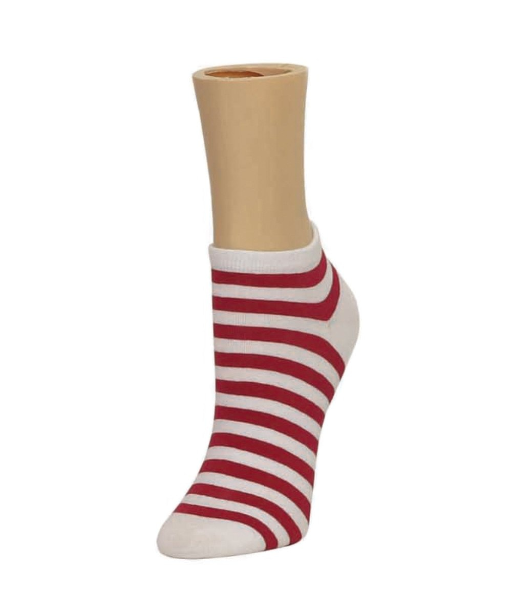 Classic Stripe Soft-Fit Cotton-Rich Low Cut Happy Sock - MeMoi - 5