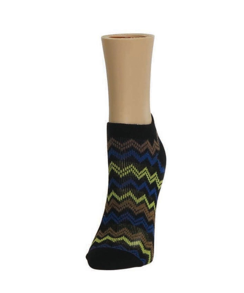 Color Zag Running Soft-Fit Cotton-Rich Low Cut Women's Socks - MeMoi - 1