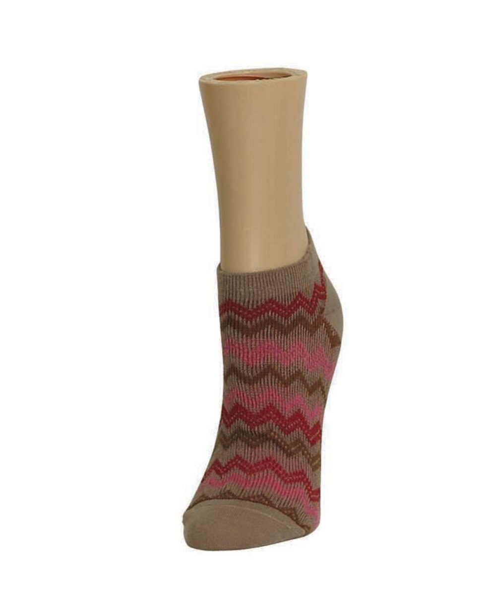 Color Zag Running Soft-Fit Cotton-Rich Low Cut Women's Socks - MeMoi - 3
