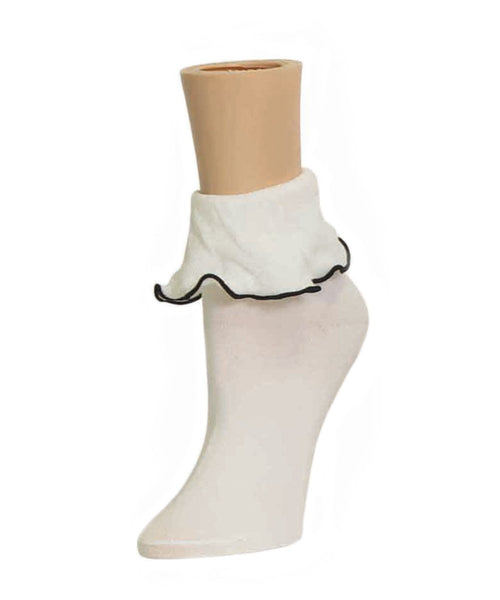 Ruffle Bliss Women's Ankle Socks - MeMoi - 2