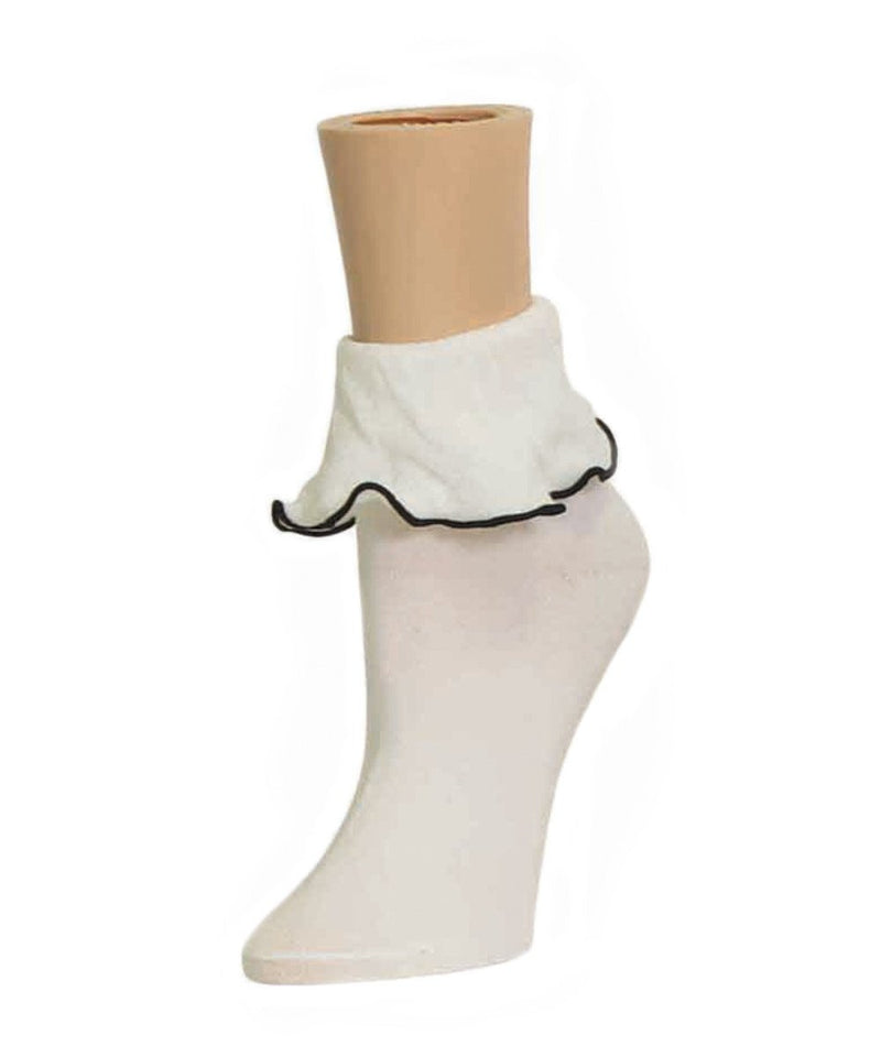 MeMoi Ruffle Bliss Women's Ankle Socks