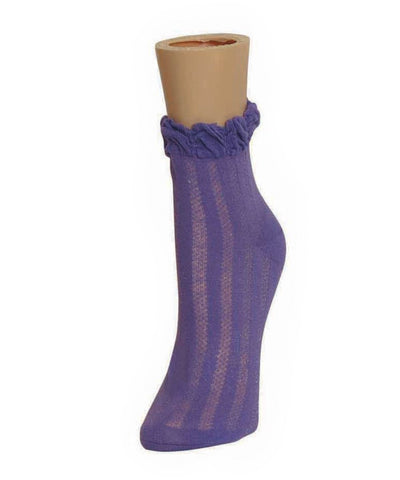 Multi Colors Natural Blend Bamboo Crew Socks