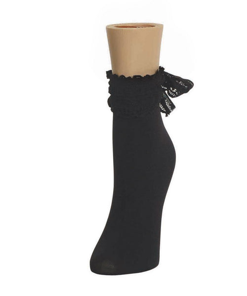 Ribbon Chic Women's Ankle Socks - MeMoi - 1