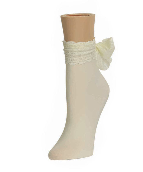 Ribbon Chic Women's Ankle Socks - MeMoi - 2