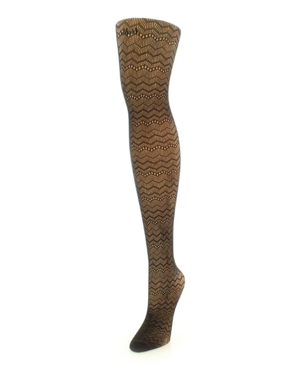 Zig Zag Net Tights - MeMoi - 1