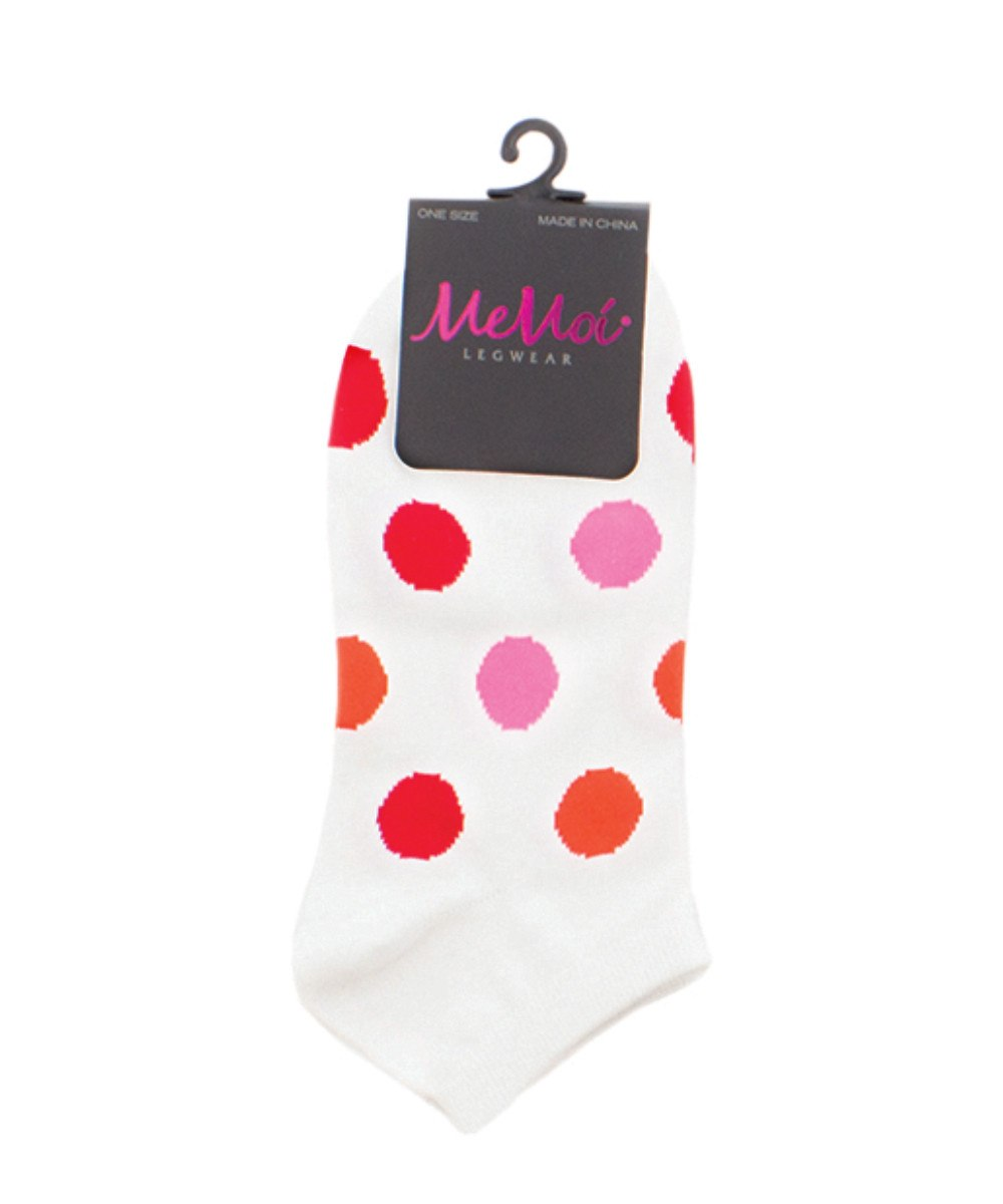 Polka Dance Soft-Fit Cotton-Rich Low Cut Women's Socks - MeMoi - 1