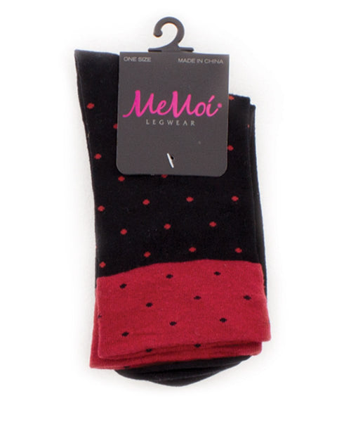 Contrast Dot Women's Ankle Socks - MeMoi - 1
