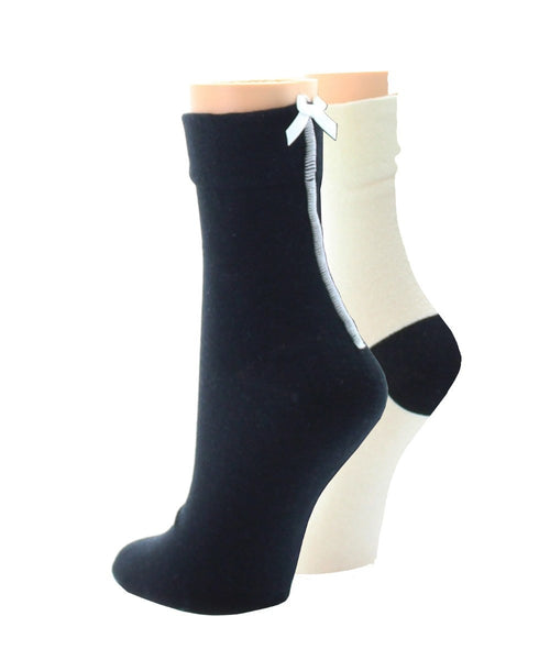 Basic Blend (2 Pair) Women's Ankle Socks - MeMoi - 1