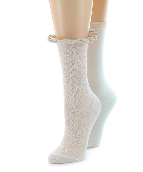 Interlock Wave (2 Pair) Women's Ankle Socks - MeMoi - 1