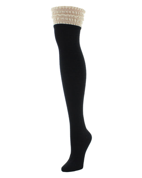 Lace Top Open Knit Over The Knee Spring Socks