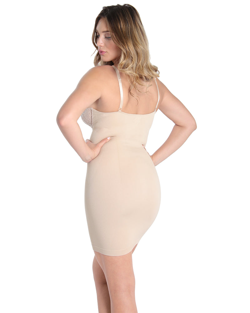 MeMoi Shaper Slip | Women's Sexy Shapewear Collection (Rear) | Nude MSC-155
