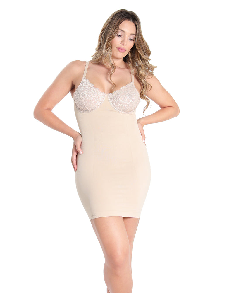MeMoi Shaper Slip | Women's Sexy Shapewear Collection (Front) | Nude MSC-155