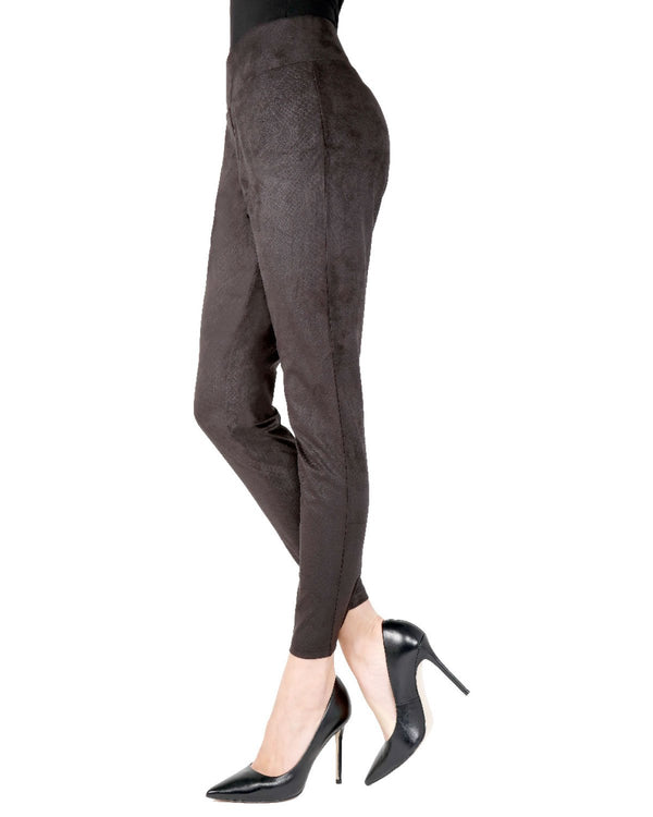 Memoi Black Morrison Snakeskin Leggings | Women's Premium Snakeskin Leggings