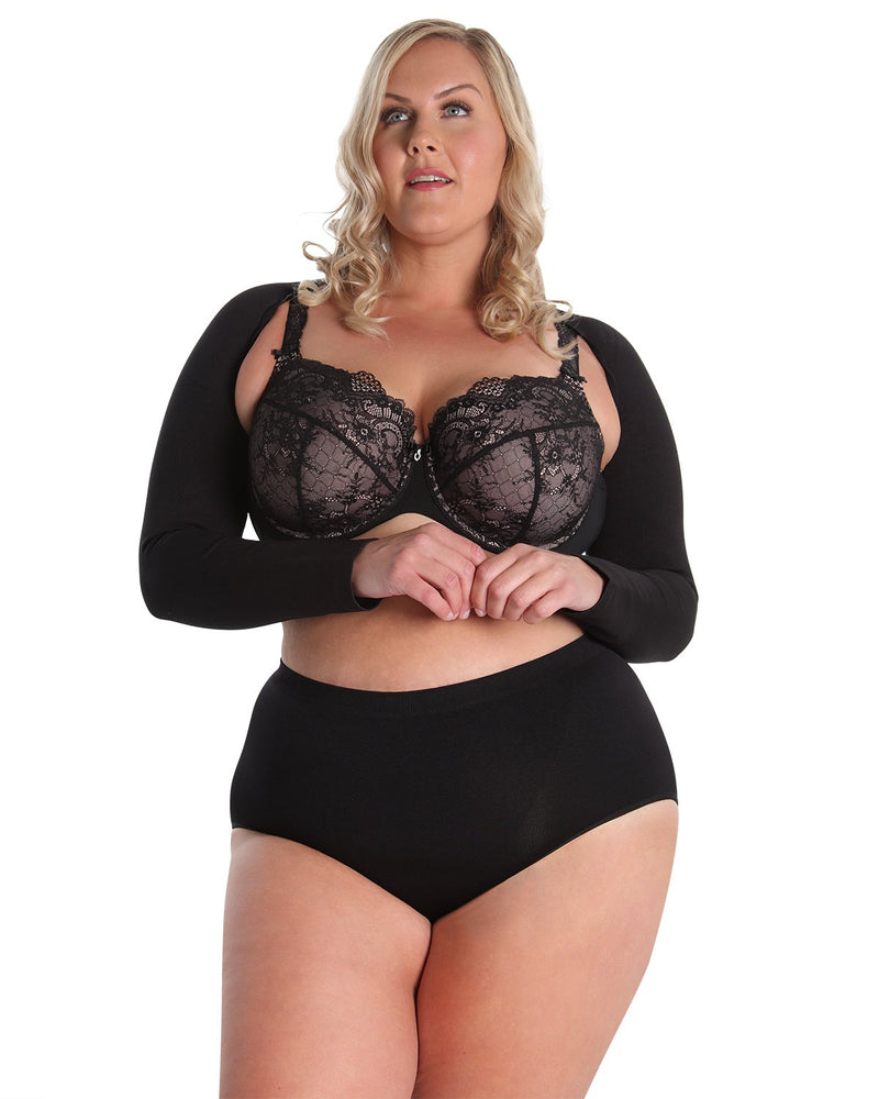 Shaping Panty | SlimMe by MeMoi Shapewear | Shaping Underwear - Shaping brief | MSM-100-Q-Blk-154 front