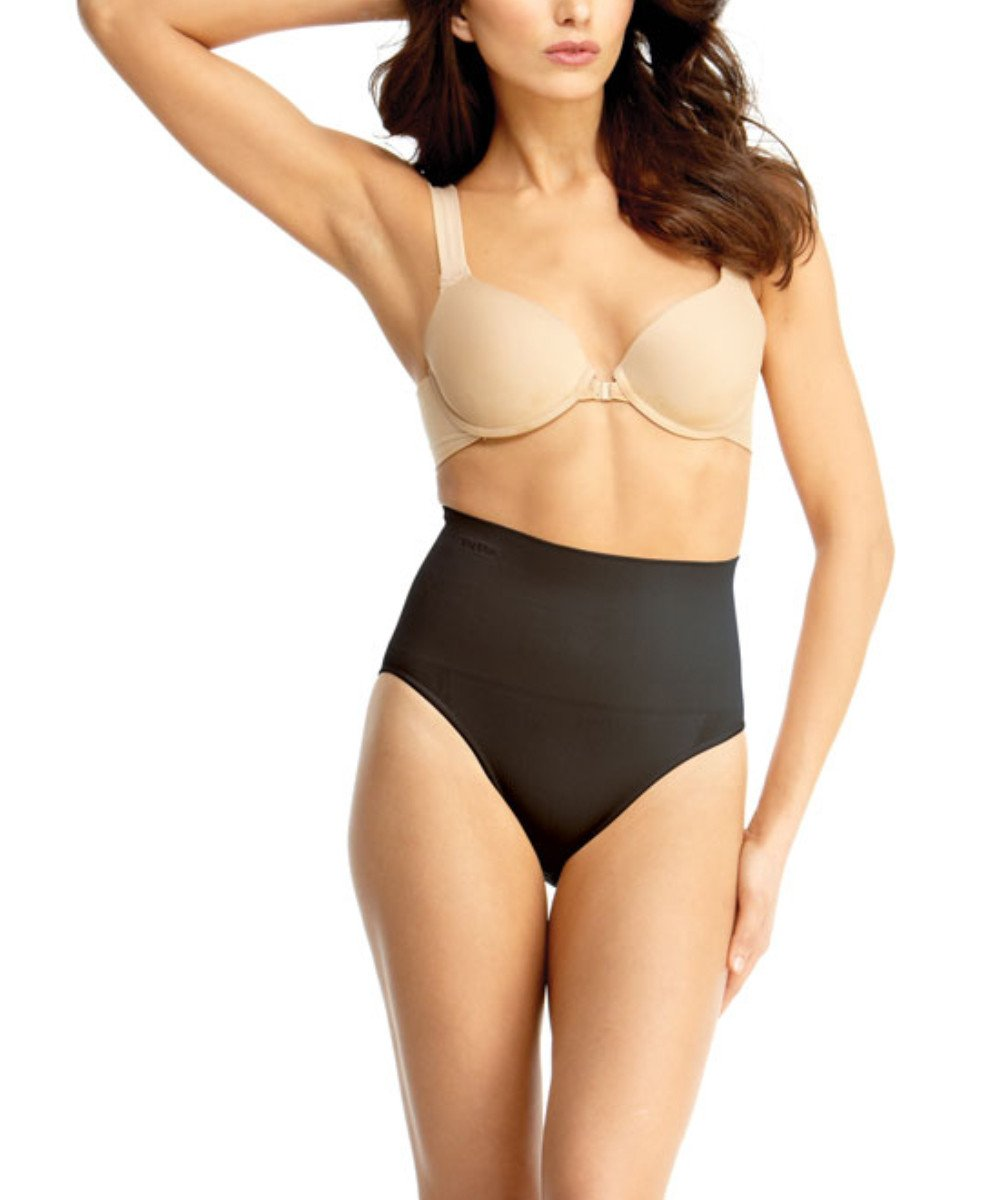 High-Waisted Brief Body Shaper - MeMoi - -Shapewear- Black-
