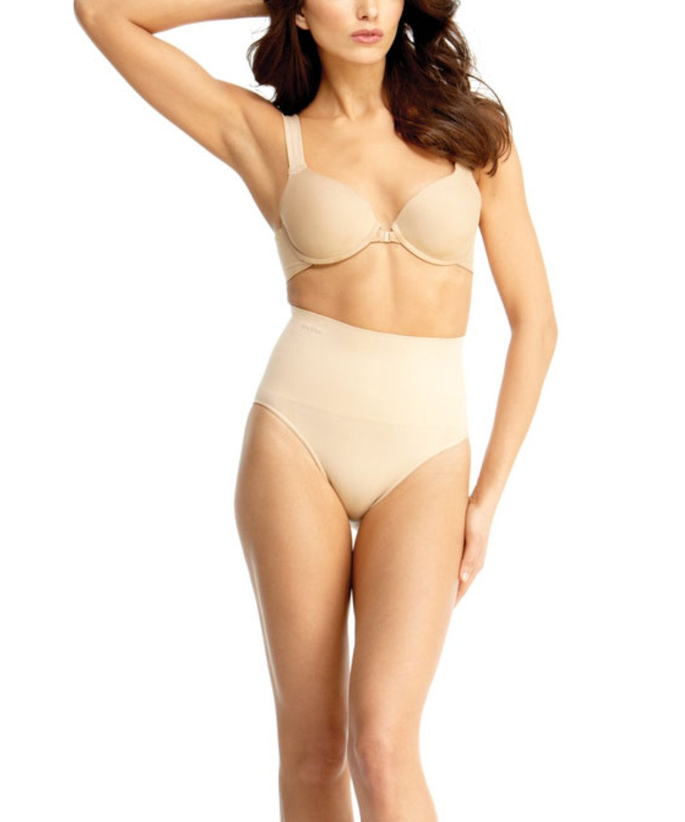 High-Waisted Brief Body Shaper - MeMoi - -Shapewear- Nude-