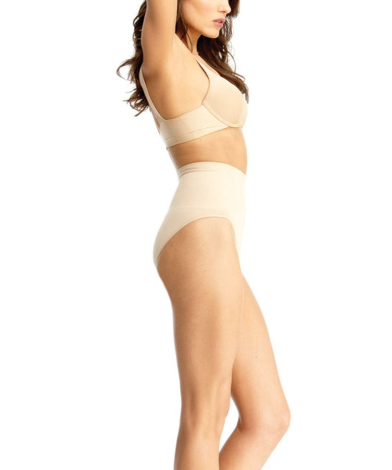High-Waisted Shapewear Panties - MeMoi - -Shapewear- Nude-
