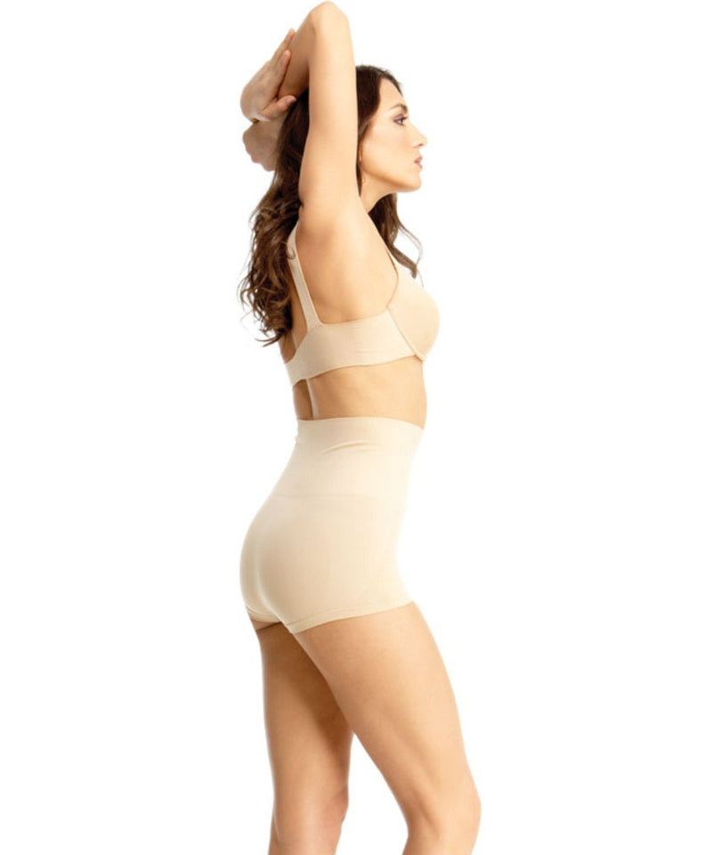 High-Waisted Boy Shorts Shaper - MeMoi -Shapewear- Nude-