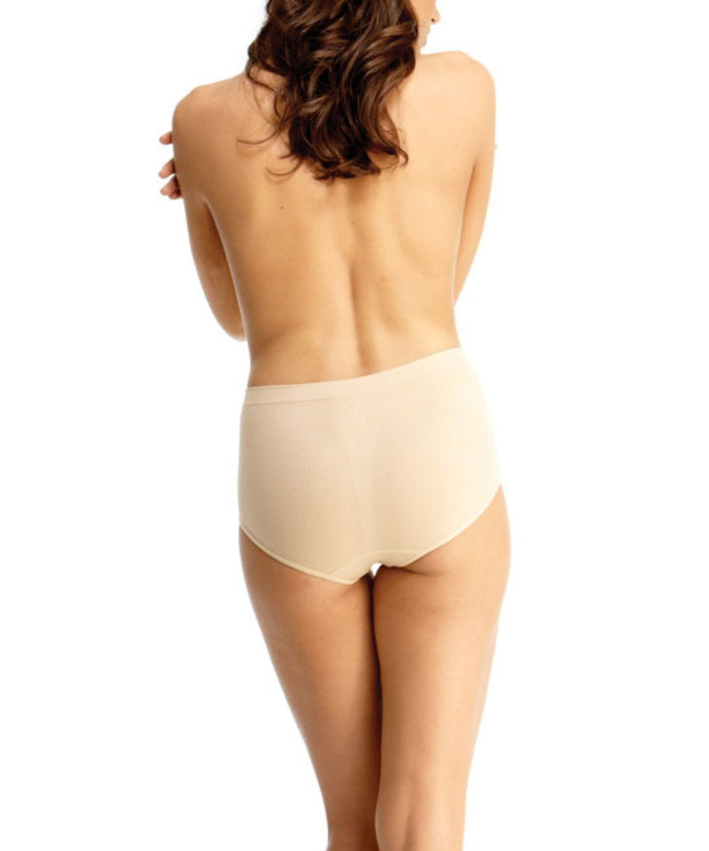 High-Cut Control Panty Shaper - MeMoi -Shapewear- Nude (rear)-