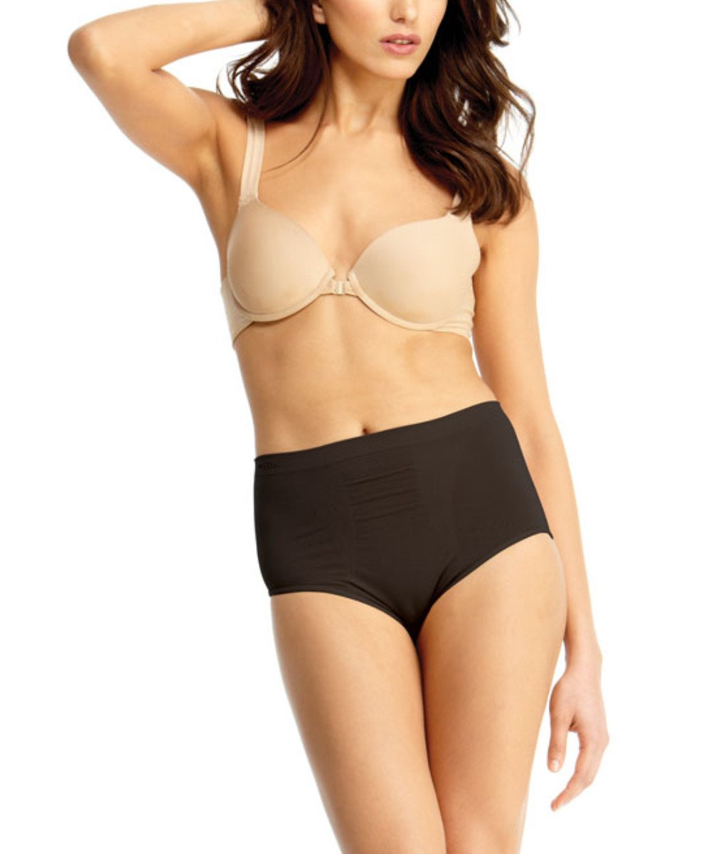 High-Cut Control Panty Shaper - MeMoi -Shapewear- Black-