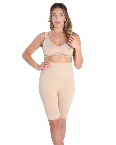 High-Waist Thigh Shaper | SlimMe by MeMoi® Women for Shapewear | Nude Plus Size Shapewear MSM-108