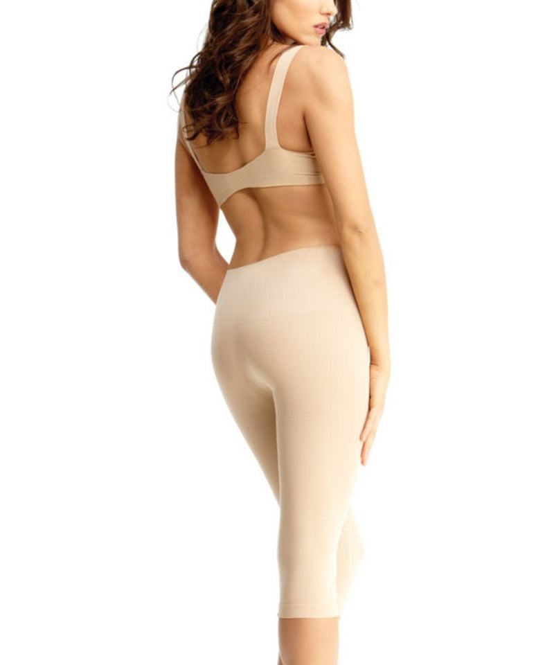High Waist Capri Shaper | SlimMe by MeMoi Shapewear | Best tummy control shapewear | MSM-109 Nude 1