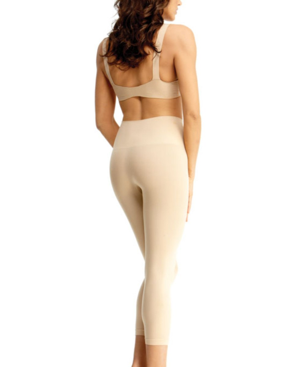 High-Waisted Shaper Leggings - MeMoi -MSM-110 White-