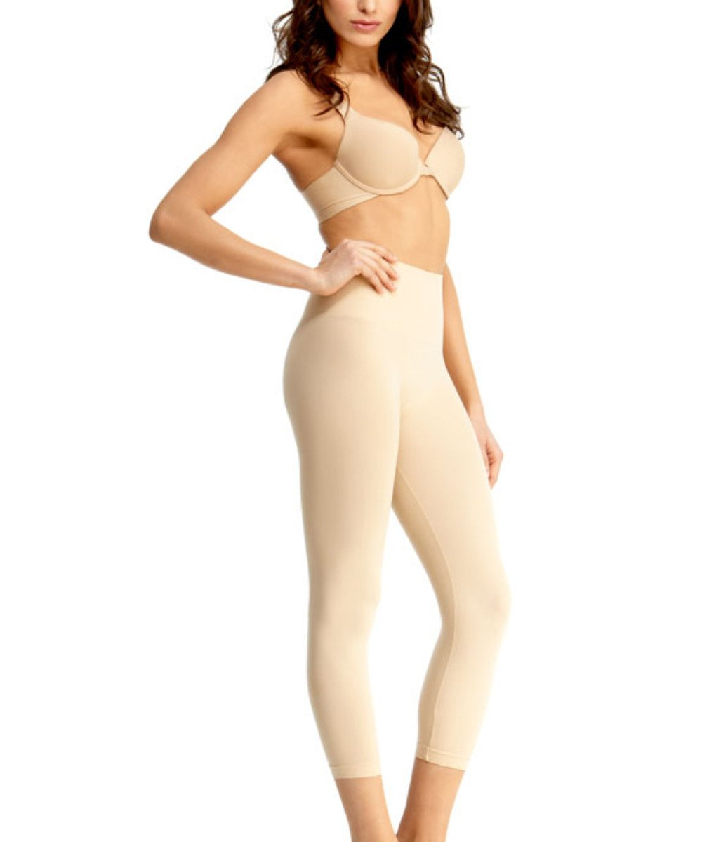 High-Waisted Shaper Leggings - MeMoi -MSM-110 Nude-