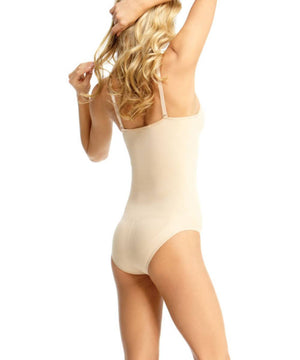 Body Suit With Brief Waist Cinchers - MeMoi -Shapewear- Nude-