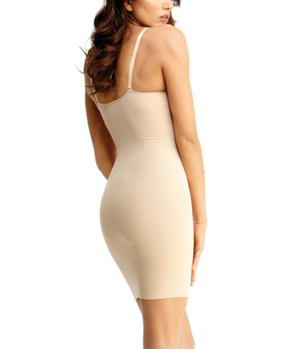 Shaping Slip Dress w/Adjust Straps Waist Cinchers - MeMoi - 3