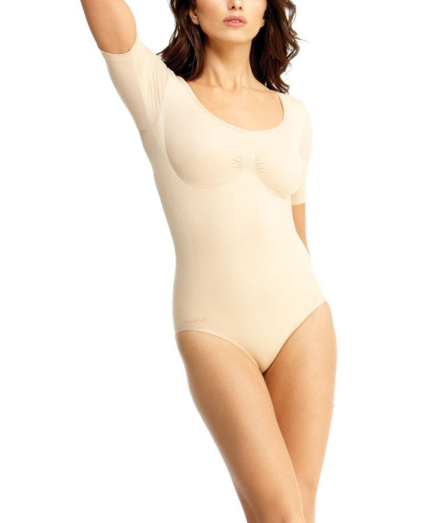 Short Sleeve Bodysuit w/Brief Waist Cinchers - MeMoi - 5