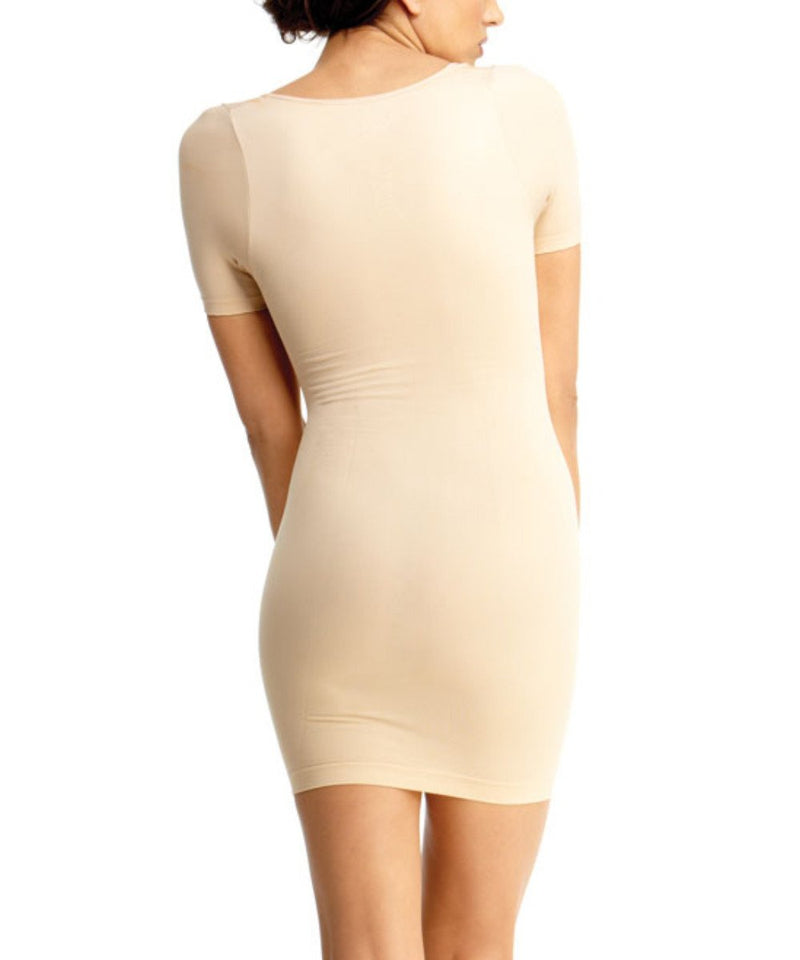 Short Sleeve Shaping Slip Waist Cinchers - MeMoi -Shapewear- Nude-