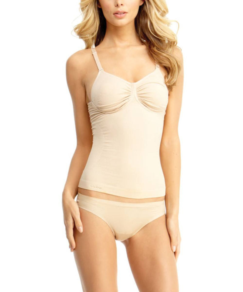 Shaping Cami W/Adjustable Straps & Underwire Waist Cinchers - MeMoi -Shapewear- Nude-
