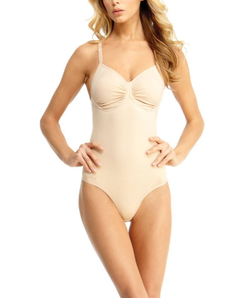 Bodysuit w/Thong & Adjustable Straps & Underwire Waist Cinchers - MeMoi - 3
