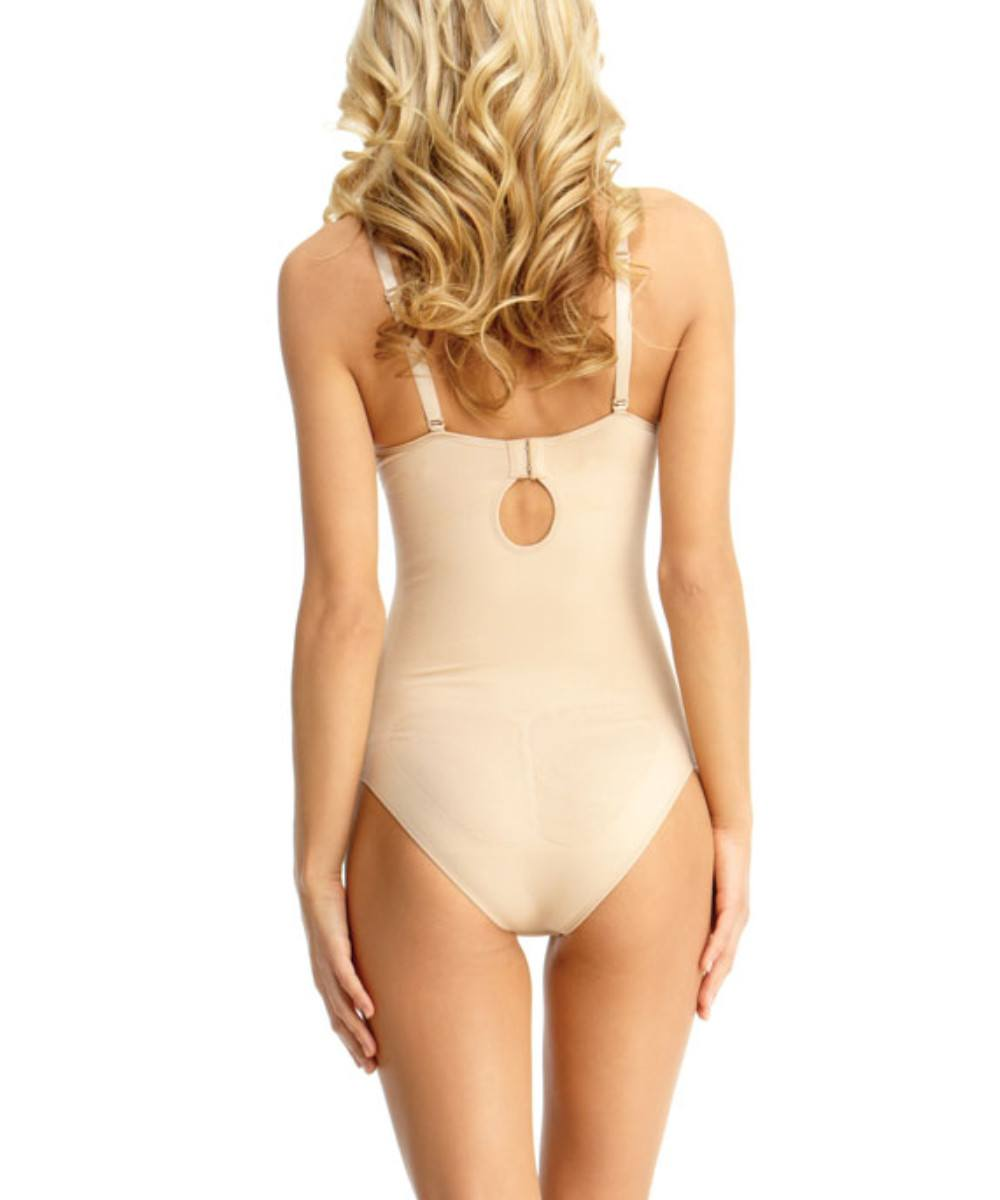 Bodysuit w/Brief Underwire Padded-Bra Waist Cinchers - MeMoi -Shapewear- Nude-