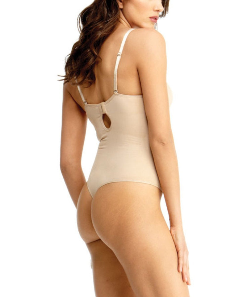 SlimMe Thong Bodysuit with Padded Underwire Bra