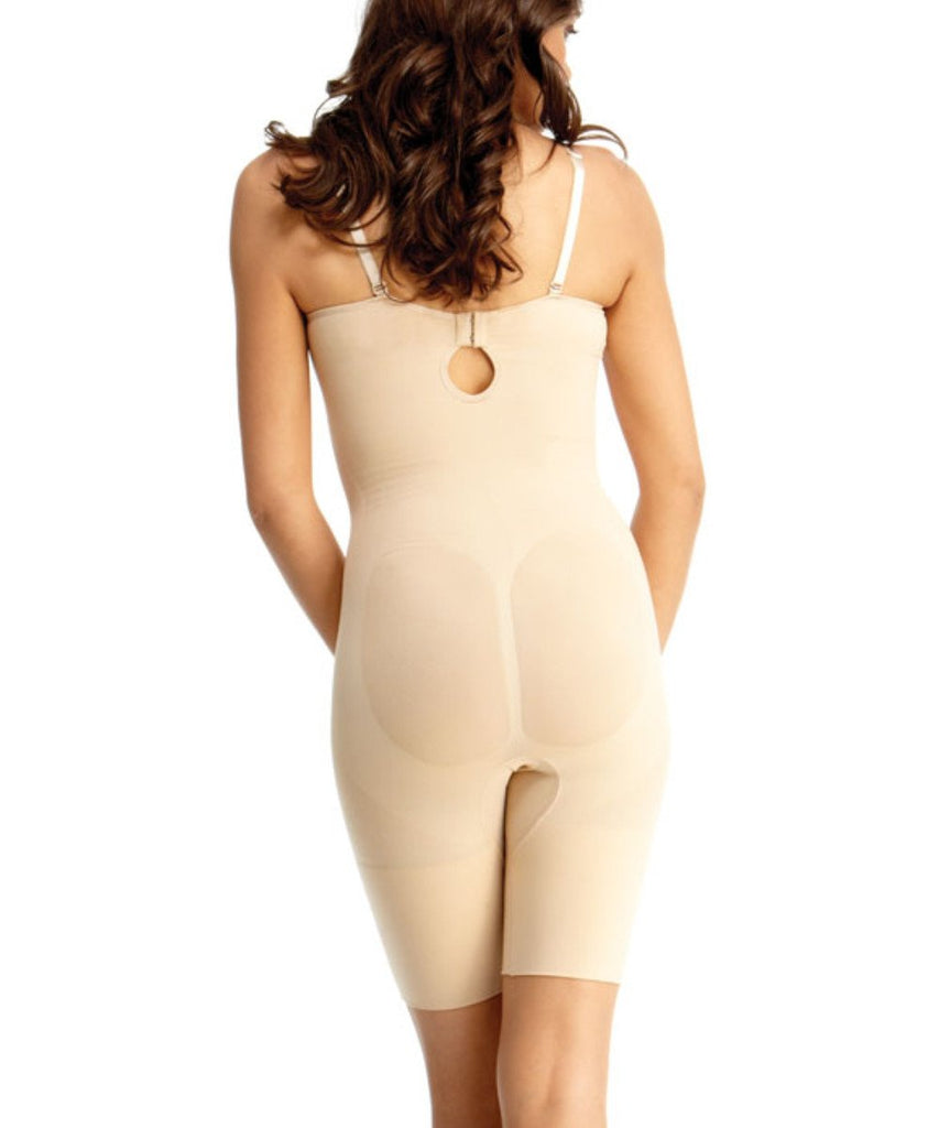 Bodysuit w/Thigh Shaper/Underwire Padded-Bra Waist Cinchers - MeMoi - 2