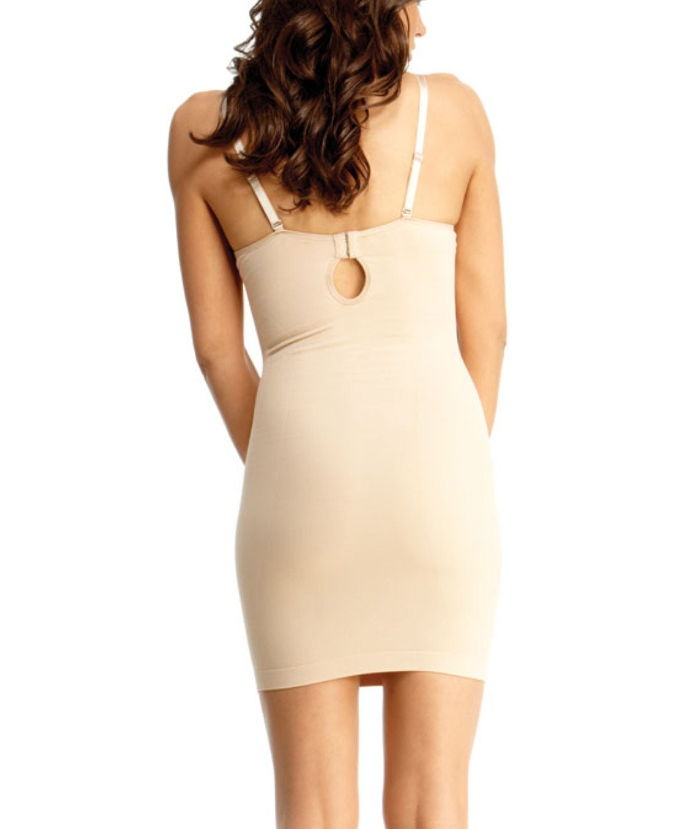 Shaping Slip w/Underwire Padded-Bra Waist Cinchers - MeMoi -Shapewear- Nude-